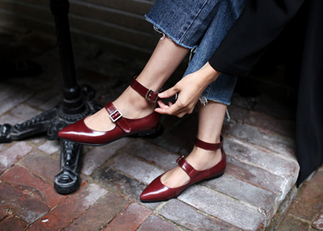 Two Strap Flat(LF0165)(Wine, Navy)